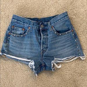 Levi 501 denim shorts